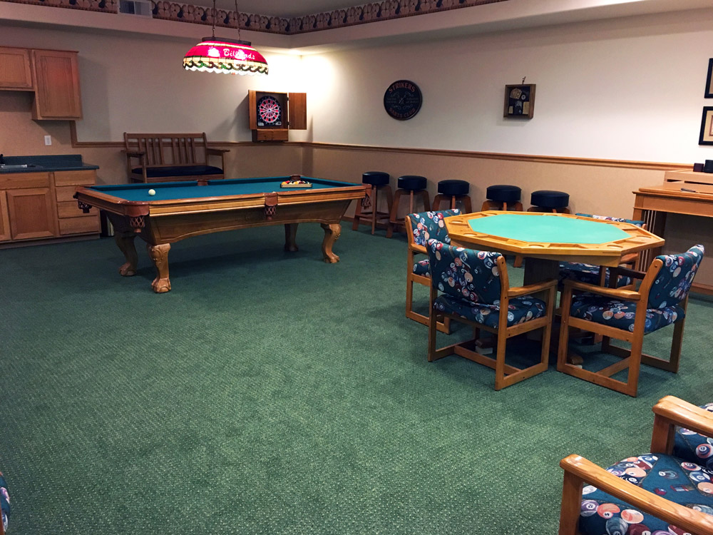Our Stylish Billiards and Game Room