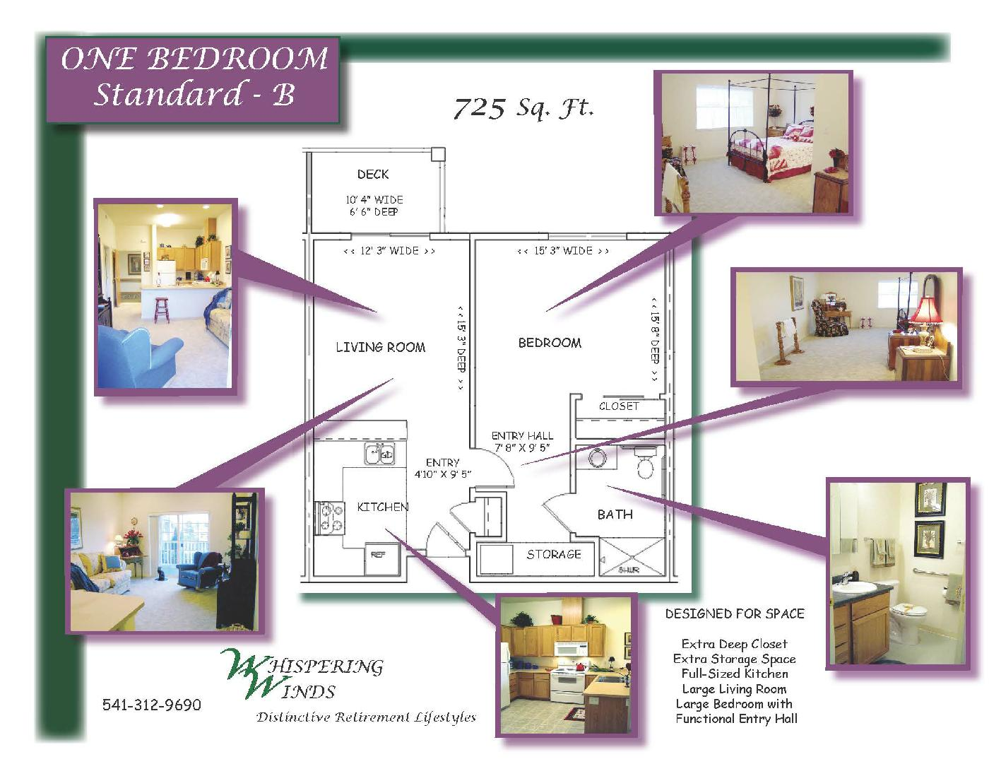 Layout Example - One Bedroom Standard - B