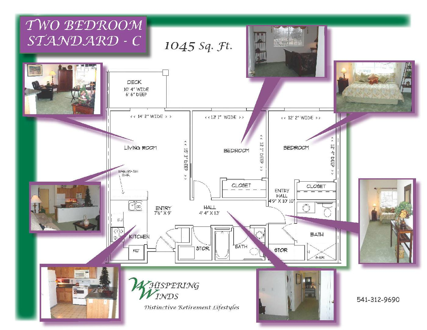 Layout Example - Two Bedroom Standard - C