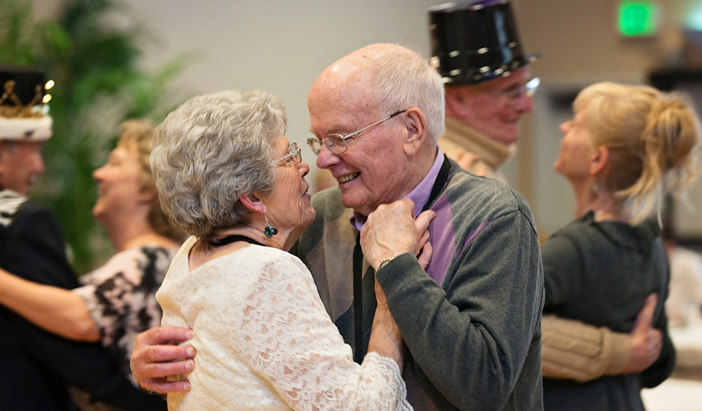 Senior Couple Enjoying Ball-Room Dance