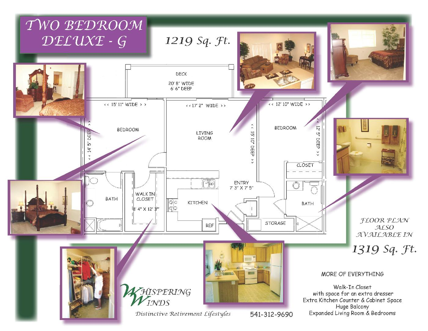 Layout Example - Two Bedroom Deluxe - G